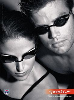 Speedo Print Ad Featuring Gabrielle Rose, Scott Tucker