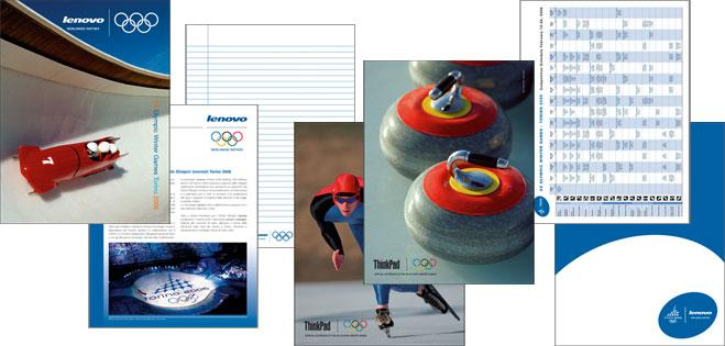 Promotional materials for Lenovo for the Olympic Winter Games Torino 2006