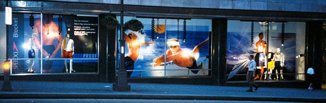 Speedo Blocket Window Display Filene's Basement