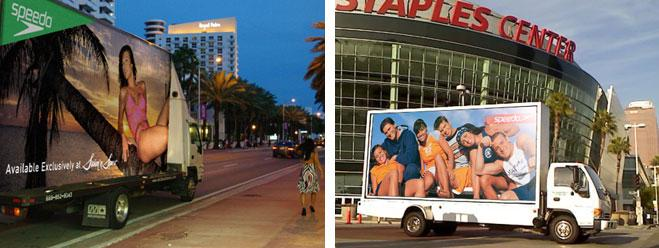 Speedo Mobile Billboards