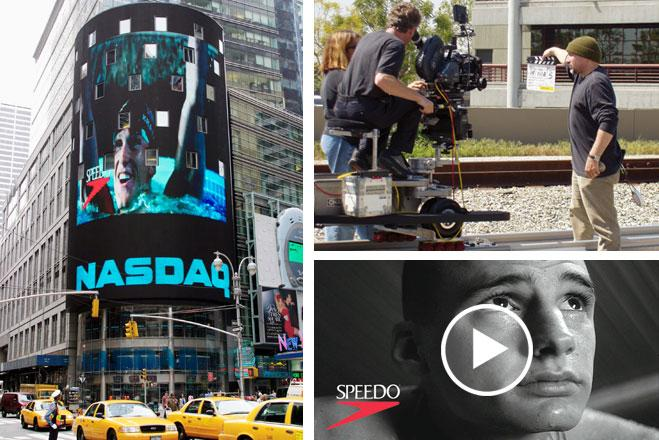 Speedo Television Commercial with Lenny Krayzelburg shown on NASDAQ building